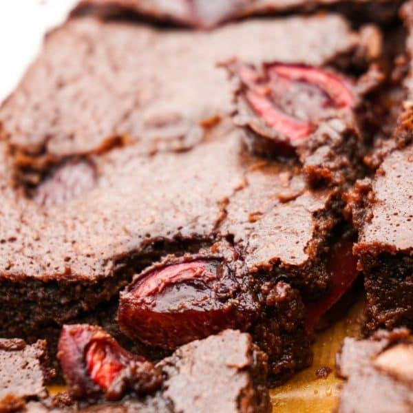 Gooey Cherry Brownies
