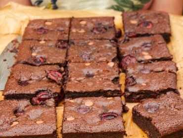 Gooey Cherry Brownies