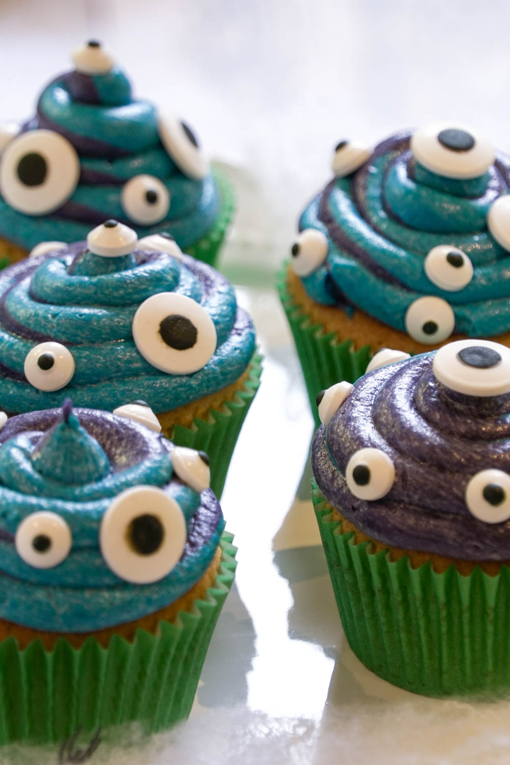 Slime Monster Cupcakes
