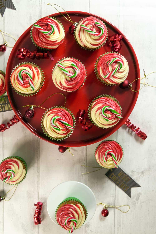 Festive Fruit Candy Cane Cupcakes-6 - Globe Scoffers | globescoffers.com