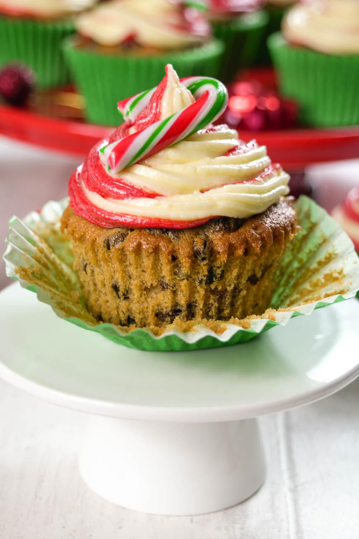 Festive Fruit Candy Cane Cupcakes-8 - Globe Scoffers | globescoffers.com