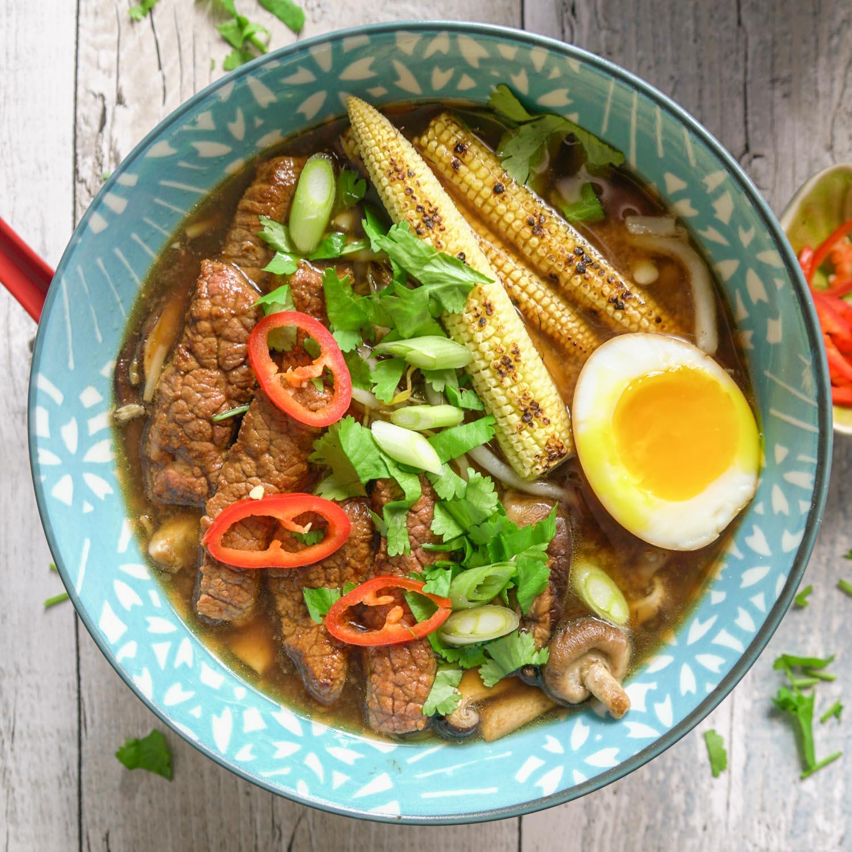 Chilli Beef Ramen Recipe - Globe Scoffers | globescoffers.com