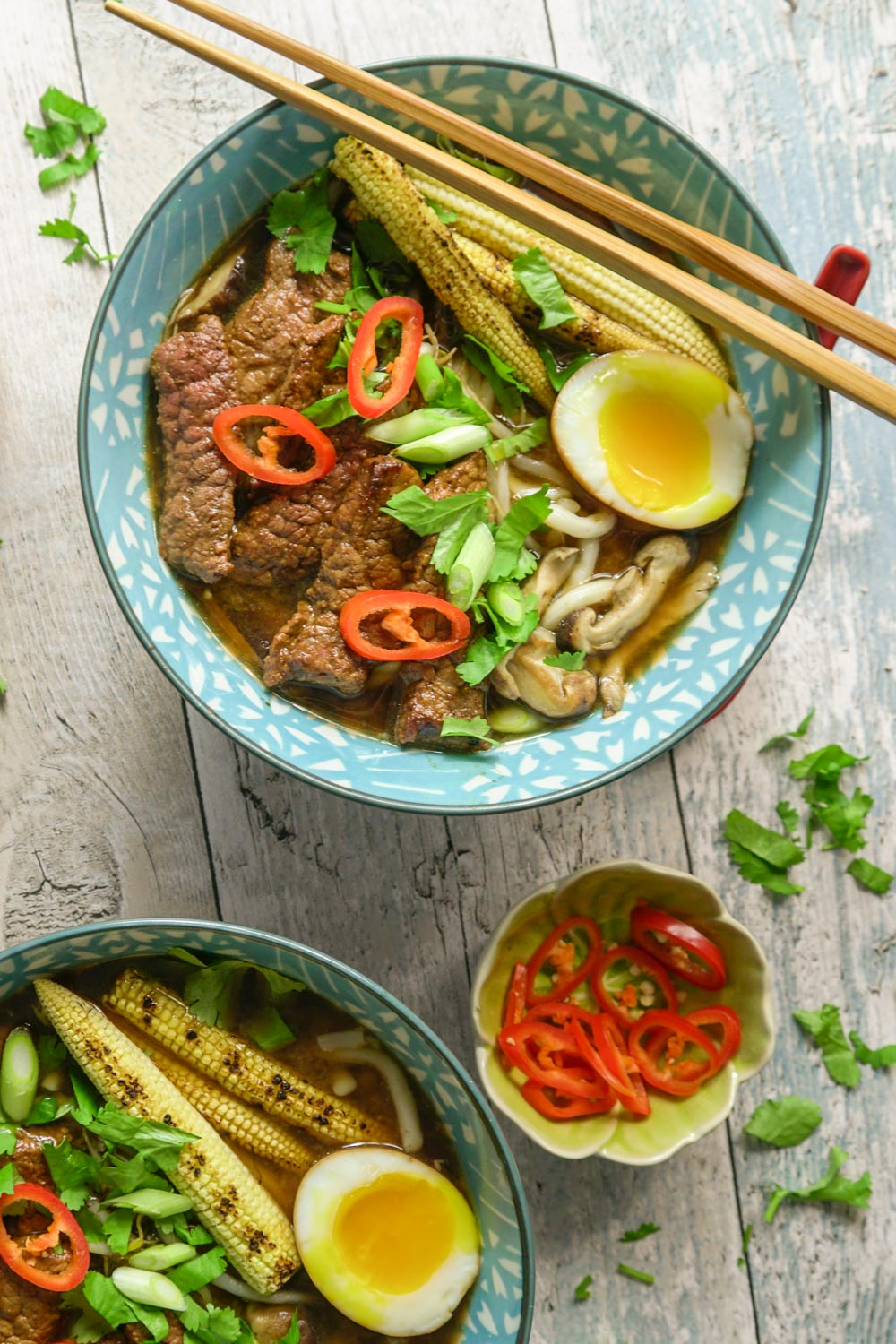 Chilli Beef Ramen Recipe - Globe Scoffers | globescoffers.com