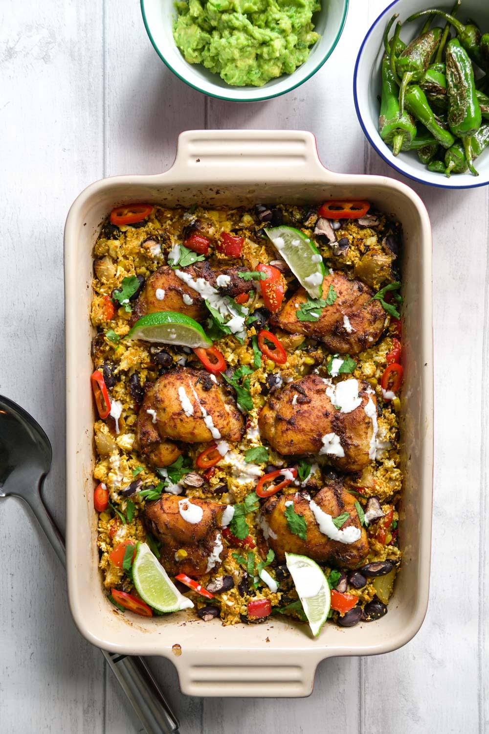 Mexican Chicken and Cauliflower Rice Traybake Recipe