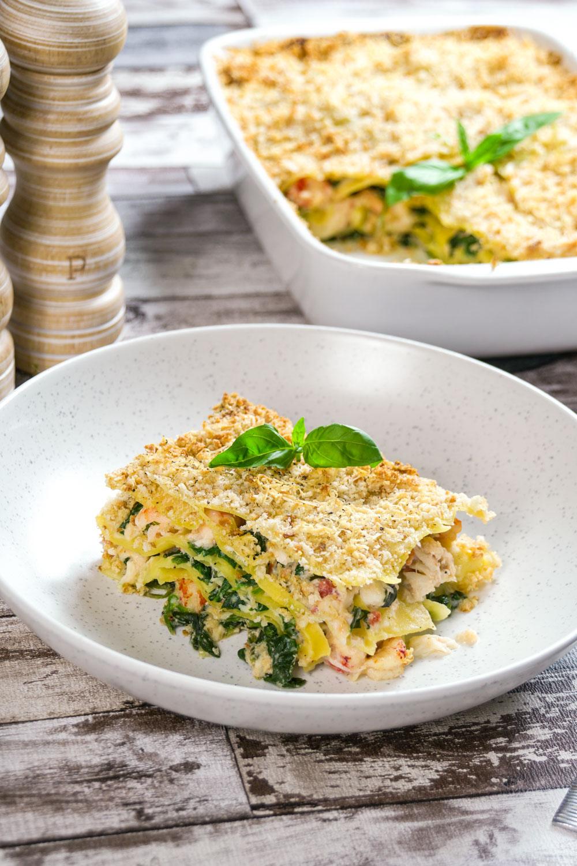 Crab, Crayfish and Prawn Lasagne Recipe - Globe Scoffers   globescoffers.com