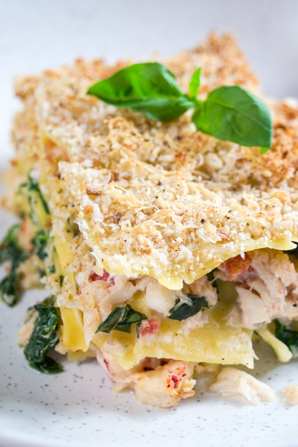 Prawn, Crab, Crayfish and Spinach Lasagne