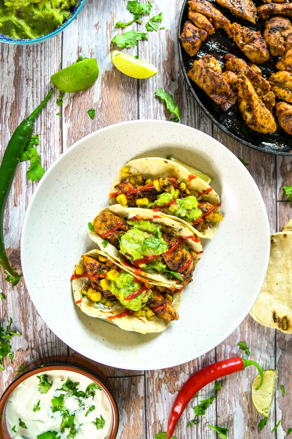 Super Spicy Chicken Tacos Recipe - Globe Scoffers | globescoffers.com