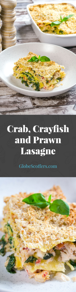 Crab, Crayfish and Prawn Lasagne Recipe — GlobeScoffers.com