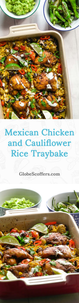 Mexican Chicken and Cauliflower Rice Traybake Recipe — Globe Scoffers