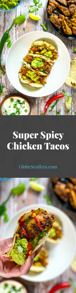  It's taco time! Try these super spicy chicken tacos for a speedy, tasty hit of Mexico's greatest street food! 