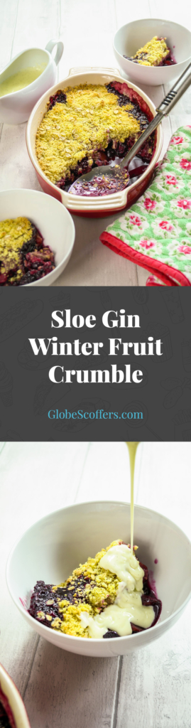 Sloe Gin Winter Fruit Crumble