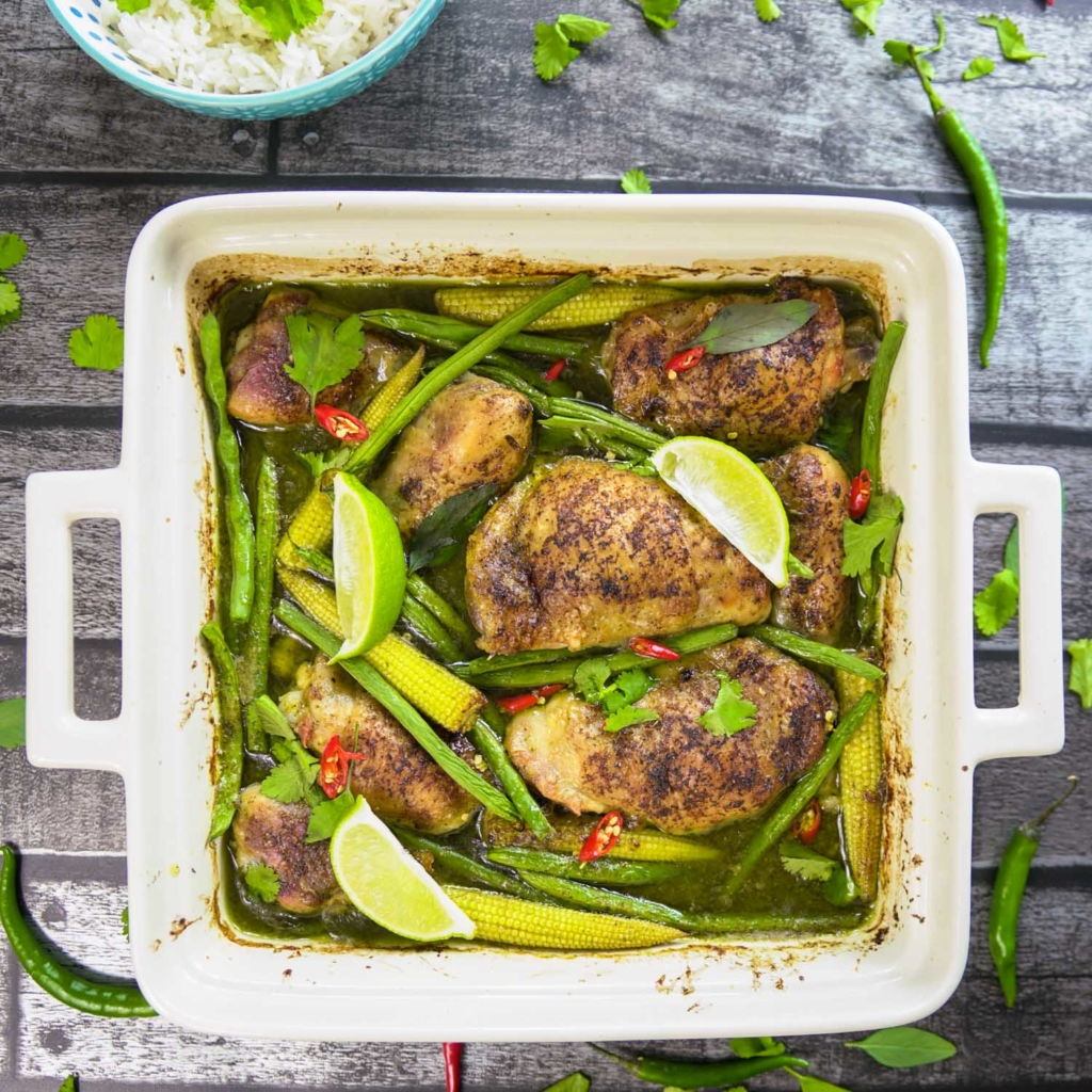 Thai Green Chicken Tray Bake