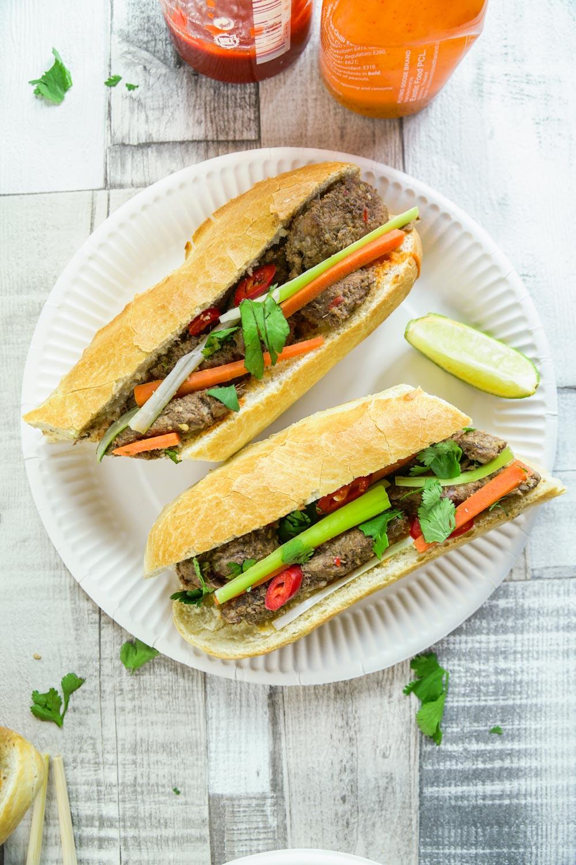 Vietnamese Lemongrass Beef Baguette Recipe - Globe Scoffers | globescoffers.com