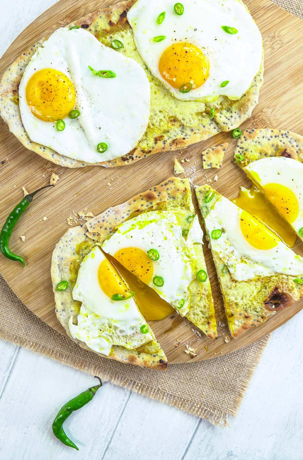 Indian Egg Flatbreads Recipe - Globe Scoffers | globescoffers.com