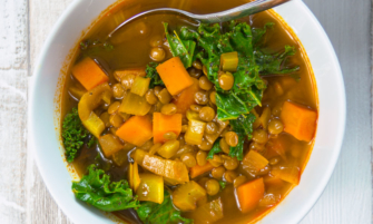 Chunky Vegan Vegetable and Lentil Soup