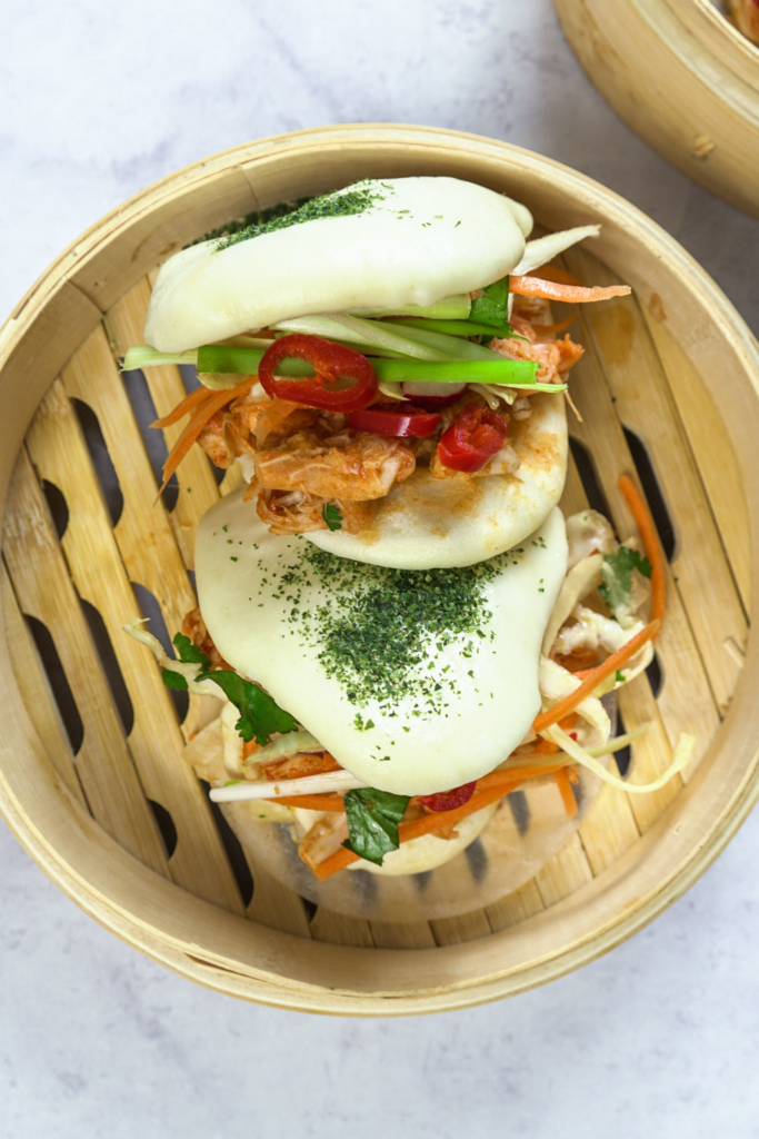 Kimchi Jackfruit Baos