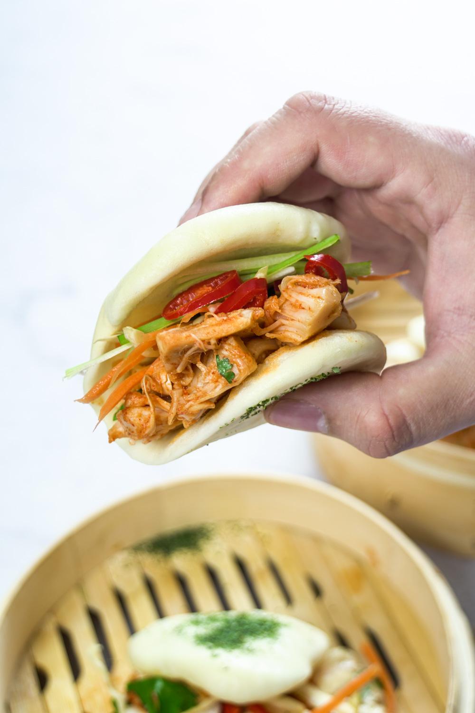 Jackfruit Kimchi Baos Recipe - Globe Scoffers | globescoffers.com