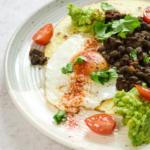 Spicy Bean, Fried Egg Tostada