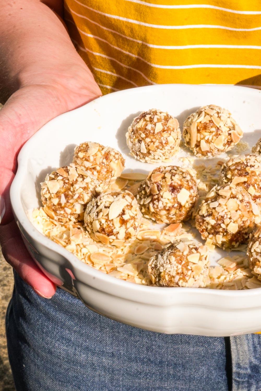 Healthy Bakewell Tart Bites Recipe - Globe Scoffers | globescoffers.com